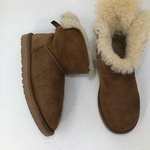 Ugg Bailey Bow Chestnut Mini Boots